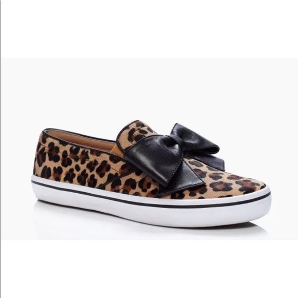 2ecdbf0f4f77 Kate Spade Delise Leopard Print Sneakers Shoes 9